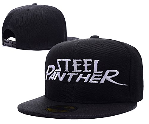 HAISHEN Steel Panther Band Logo Adjustable Snapback Embroidery Hats Caps - Black (British Invasion Steel Panther compare prices)