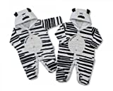 Baby All in One - Zebra Print. Onesie for Boys & Girls, Sizes Available. Onsies (3-6 Months)