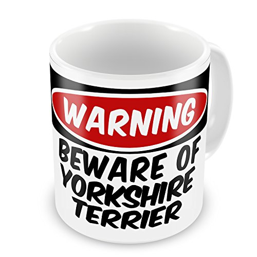 Coffee Mug Beware Of The Yorkshire Terrier Dog From England - Neonblond