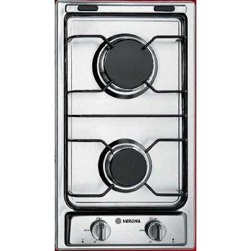 Verona Vectg212Fds 12-Inch Gas 2 Burner Cooktop, Stainless Steel