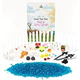 Fairy Garden Accessories & Supplies Starter Kit, Great Value with 100g Pond Pebbles plus