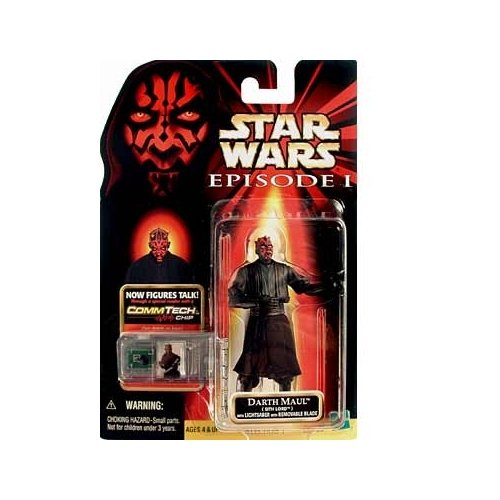 Star Wars DARTH MAUL (Sith Lord) Figure with CommTech Chip Episode 1