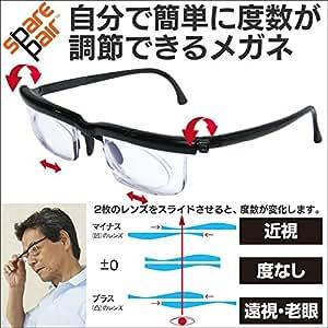自分で 簡単に 度数 が 調節 できる メガネ ( 黒 1個 )