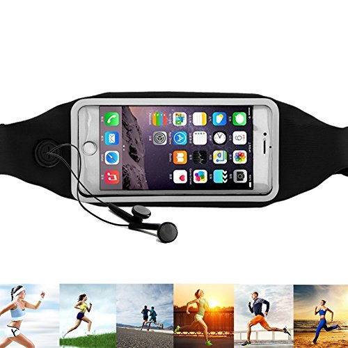 Running Belt, Days 26® Running Fanny Pack for Cycling, Hiking, Walking, Running, Riding Bikes, Fitness.dual Pocket Lycra Sweatproof Pouch Fits Iphone 6 Plus,samsung Galaxy S6 Edge Nokia HTC Blackberry