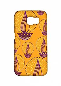 RANGSTER Diya-Rangful Matte Finish Mobile Case For Samsung Galaxy S6 (G920)-Yellow