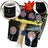 Beverly Turner Anniversary Design – Two Silver Hearts 25th Anniversary – Coffee Gift Baskets – Coffee Gift Basket (cgb_29618_1)
