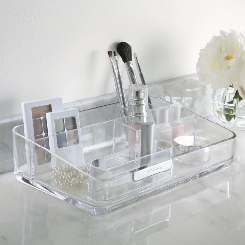 Large Acrylic Cosmetics Organizer With Removable Compartment - U.S. Acrylic® Signature Collection