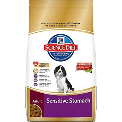 Hill's Science Diet Adult Sensitive Stomach Dry Dog Food, 30-Pound Bag from Hill's Pet Nutrition