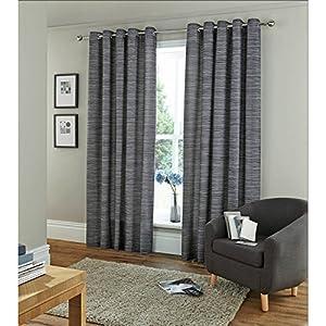 Amazon com horizontal stripe eyelet curtains fully lined ring top