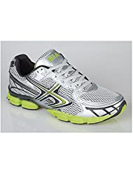 Mens Shock Absorbing Running Trainers grey/lime Size 9