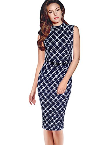 VfEmage Womens Celebrity Elegant Sleeveless Wear To Work Casual Pencil Dress 2317