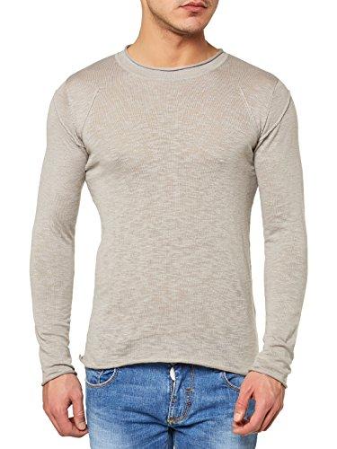Antony Morato Pullover Uomo Maglione Sweater Slim Fit Mastice (Col. 2039) L