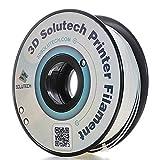3D Solutech Real White 1.75mm Flexible 3D Printer Filament 2.2 LBS (1.0KG) (Color: White)