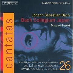 Bach, J.S.: Cantatas, Vol. 26 - Bwv 96, 122, 180