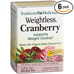 Traditional Medicinals Weightless Tea Cranberry 16 tea bags $16.06