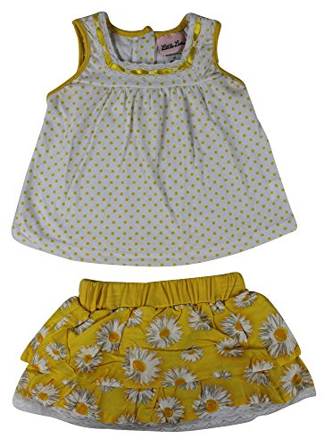Alfa Global Baby Girl'S Toddler Loose Polka Dot Sleeve Less Cute Dress And Double Layered Ruffle Skirt W/Attached Light Short 4 Years front-686562
