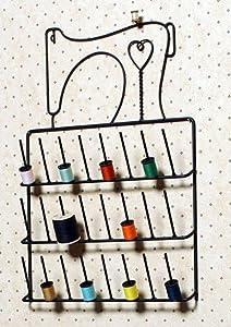 Sewing Machine Spool Thread Rack Holder Wrought Iron Black