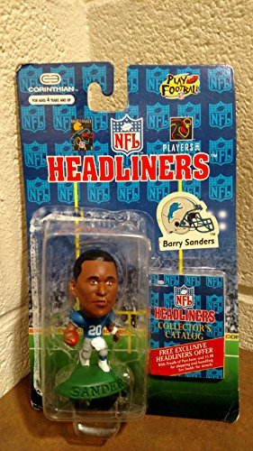 BARRY SANDERS / DETROIT LIONS * 3 INCH * 1996 NFL Headliners Football Collector Figure