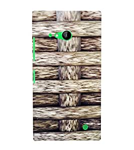 PrintVisa Criss Cross Wooden Pattern 3D Hard Polycarbonate Designer Back Case Cover for Nokia Lumia 730