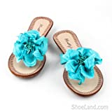 Belita Thong Sandal With Flirty Flower Decor
