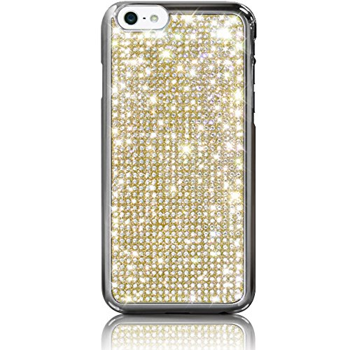 "iPhone 6s PLUS / 6 PLUS (5.5"") Novoskins Gold Oro Cristallo Chic Luxe Hard Case realizzato con Swarovski Elements"