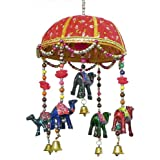 Decorative Wall Hanging With Cute Animals And Beads - Cloth