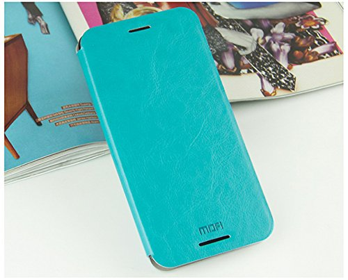 For HTC Desire 620G / 620 Dual Sim Luxury Leather Slim Flip Cover Case with Stand by MOFI - Blue