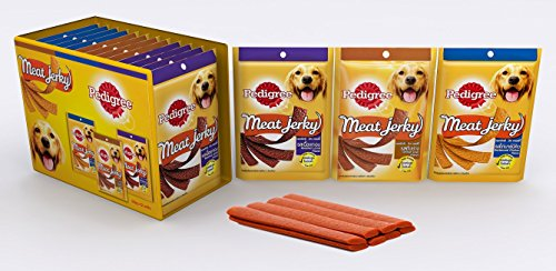 Pedigree Dog Treats - Meat Jerky Stix Assorted Combo Lamb, BBQ Chicken And Liver,  960 G (80g X 12 Packs)