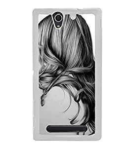 Girl with Gorgeous Hair 2D Hard Polycarbonate Designer Back Case Cover for Sony Xperia C3 Dual :: Sony Xperia C3 Dual D2502