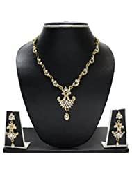 Classic Pearl Necklace Set By Zaveri Pearls-Zpfk1239