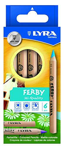 Lyra Ferby Short Colored Pencils, Set of 6 - 1