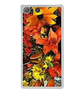 Bright Flowers 2D Hard Polycarbonate Designer Back Case Cover for Sony Xperia M5 Dual :: Sony Xperia M5 E5633 E5643 E5663