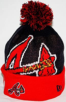 Atlanta Braves New Era MLB Woven Biggie 2 Cuffed Knit Hat