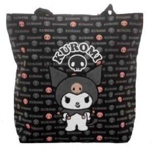 Sanrio Kuromi Black and Pink Large Tote Bag Officially Licensed Hello Kitty P... - 1