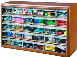 Stack-On DSBZ-30 30 Drawer Storage Parts Storage Organizer Cabinet, Bronze