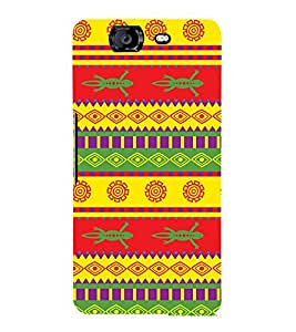 Festival Pattern Design 3D Hard Polycarbonate Designer Back Case Cover for Micromax Canvas Knight A350
