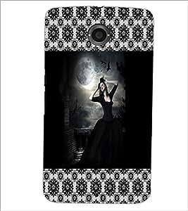PrintDhaba Black Angel D-5077 Back Case Cover for MOTOROLA GOOGLE NEXUS 6 (Multi-Coloured)