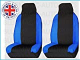 FORD TRANSIT CONNECT VAN (2002 on) Premium Luxury Fabric Seat Covers Blue Racing