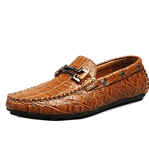 casual leather boat shoes business moccasin driving