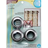 Dritz 44458 Curtain Grommets, Pewter, 1-Inch, 8-Pack