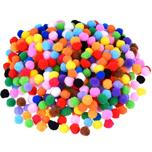 Blulu Pompoms for Craft Making and Hobby Supplies, 500 Pieces 0.5 Inch, Assorted Colors (Hobby Supplies compare prices)