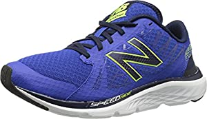 New Balance Men's M690V4 Running Shoe, Blue/Yellow, 10 D US