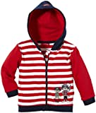 Salt & Pepper Baby - Jungen Sweatjacke, gestreift 43218117, Gr. 92, Rot (tomato red)