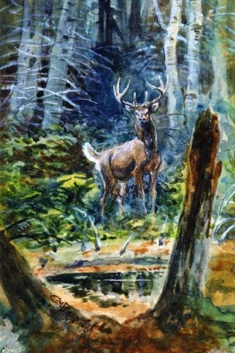 deer-in-the-dell-charles-m-russell-for-the-love-of-art-blank-150-page-lined-journal-for-your-thought