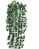 【SCGEHA】フェイクグリーン インテリア イミテーション 人工 観葉植物 壁掛け 緑 癒し 3種類 (Aタイプ/2本)