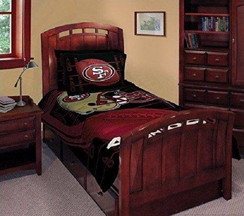 5pcs NFL San Francisco 49ers Comforter & Sheet Set Queen Size