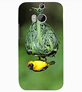ColourCraft Bird and nest Design Back Case Cover for HTC ONE M8