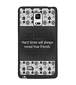 PrintDhaba Quote D-4686 Back Case Cover for SAMSUNG GALAXY NOTE 4 (Multi-Coloured)
