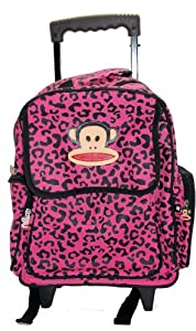 Pflp8687pk Paul Frank Pink Wheeled Luggage Trolley Wheeled Backpack