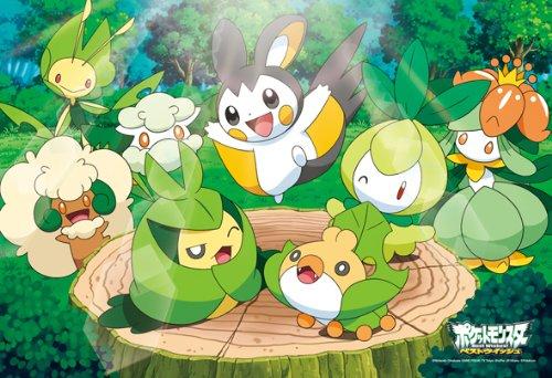 Cuadrado-70-55-nios-rompecabezas-70-piezas-Pokemon-Best-Wishes-bosque-japn-importacin